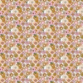 Chelsea* (Mini Desert High Noon) || vintage 60s 70s enamel pin brooch flower floral garden pastel sheet illustration spring summer bouquet