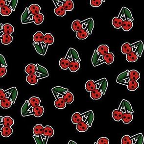 Cherry skulls - black