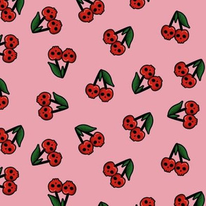 Cherry skulls - pink