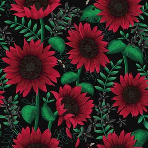 Sunflowers Red
