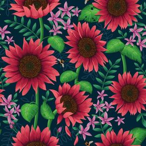 Sunflowers Magenta