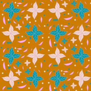 Autumn leaves flower pattern  by Kaorina