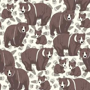 Bear Foot Prints - dark brown