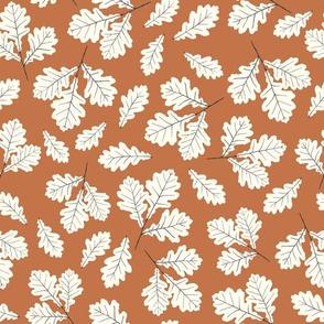 Oak Leaves - caramel brown