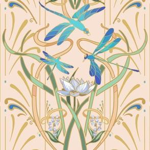 Art Nouveau Dragonflies Small | Hint of Blush