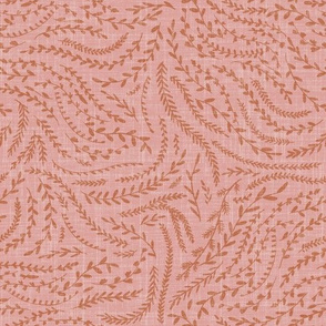 Notion - fine floral - pink and rust