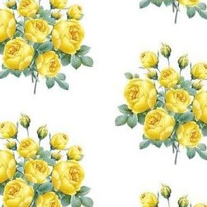 Yellow vintage rose bou