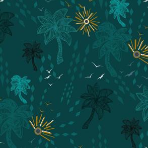 Tropical Paradise on Dusk