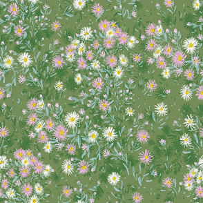 """Northern Asters (green) 18"""""""