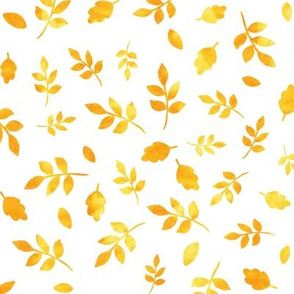 Watercolor autumn gold fall | little leaves 0455