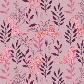 Leopards - purple