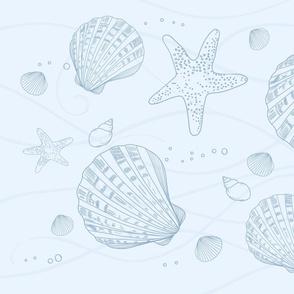 Shells in Ocean Towel