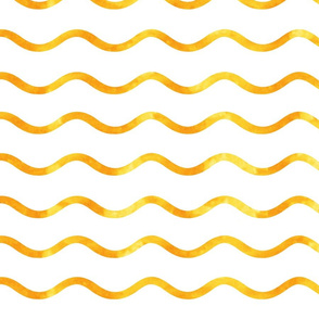 Golden watercolor wave holiday pattern 0486