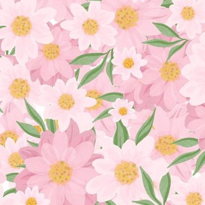 chrysanthemum Pink flowers with leaves 0402