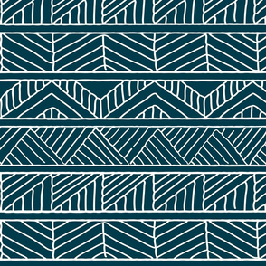 hand drawn geometric blue