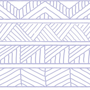 hand drawn geometric lilac