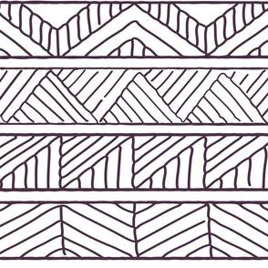 Hand drawn geometric dark purple