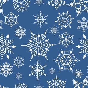 christmas blue white