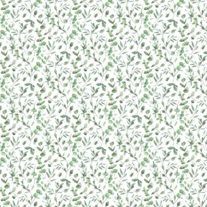 Eucalyptus Watercolor Botanical Pattern