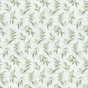 Watercolor Eucalyptus Green