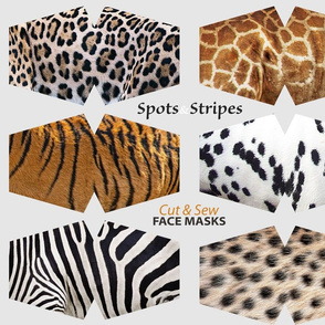 Spotted and Striped Animal Coats Face Masks