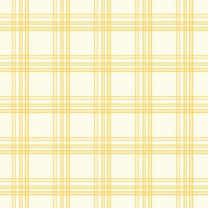 Little Pere's yellow line tartan
