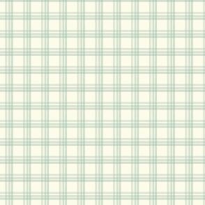 Little Pere's soft green tartan
