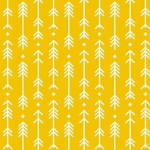 cross plus arrows half scale mustard yellow