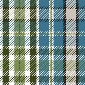 Wilderness Plaid - Blue Large Scale