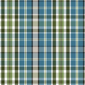 Wilderness Plaid - Blue Regular Scale