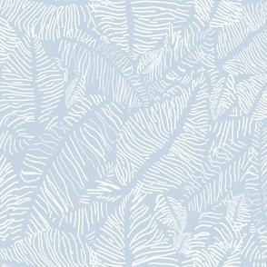 banana leaves  - beach house blue