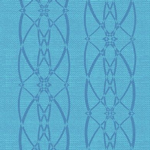 Textured trellis - cerulean blue