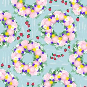 Midsummer-strawberries-blue