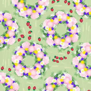 Midsummer-strawberries-green