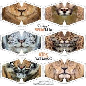 CHILDREN Wild Animal Face Masks