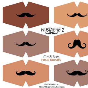 6 Fun Black Mustache Face Masks Dark complexion