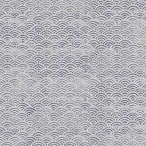 Japanese Block Print Pattern of Ocean Waves | Japanese waves pattern, grey on grey, boho print, neutral decor.