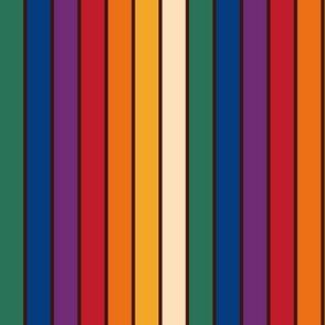 Rainbow Owlie Stripes (Darkstripe)