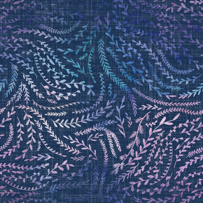 Notion - fine floral - rainbow and navy
