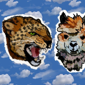 Leopard, Lama and Wolf