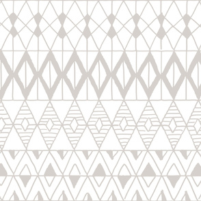 hand drawn geometric grey
