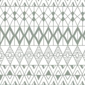 hand drawn geometric aztec