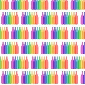 Rainbow bottles party celebration