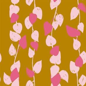 Sprawling Leaves - Golden