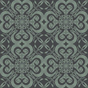 quiet space wallpaper medium grey on blue grey