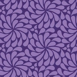 'In a spin' quilt minis - violet and lilac