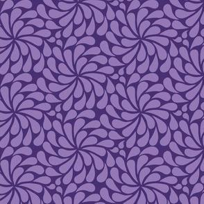 In a Spin - mini, purple on purple