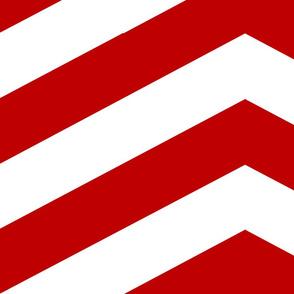 Red and White Chevron