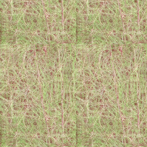 Raw Texture -Green and Mulberry