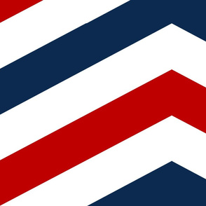 Navy and Red Chevron